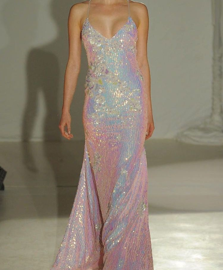 I Want This Awesome Iridescent Gown Penny Sequin Wedding Dresses Dress Bling