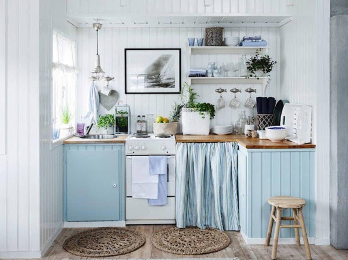 Décoration Bord de Mer - Elle Décoration  Cuisine cottage