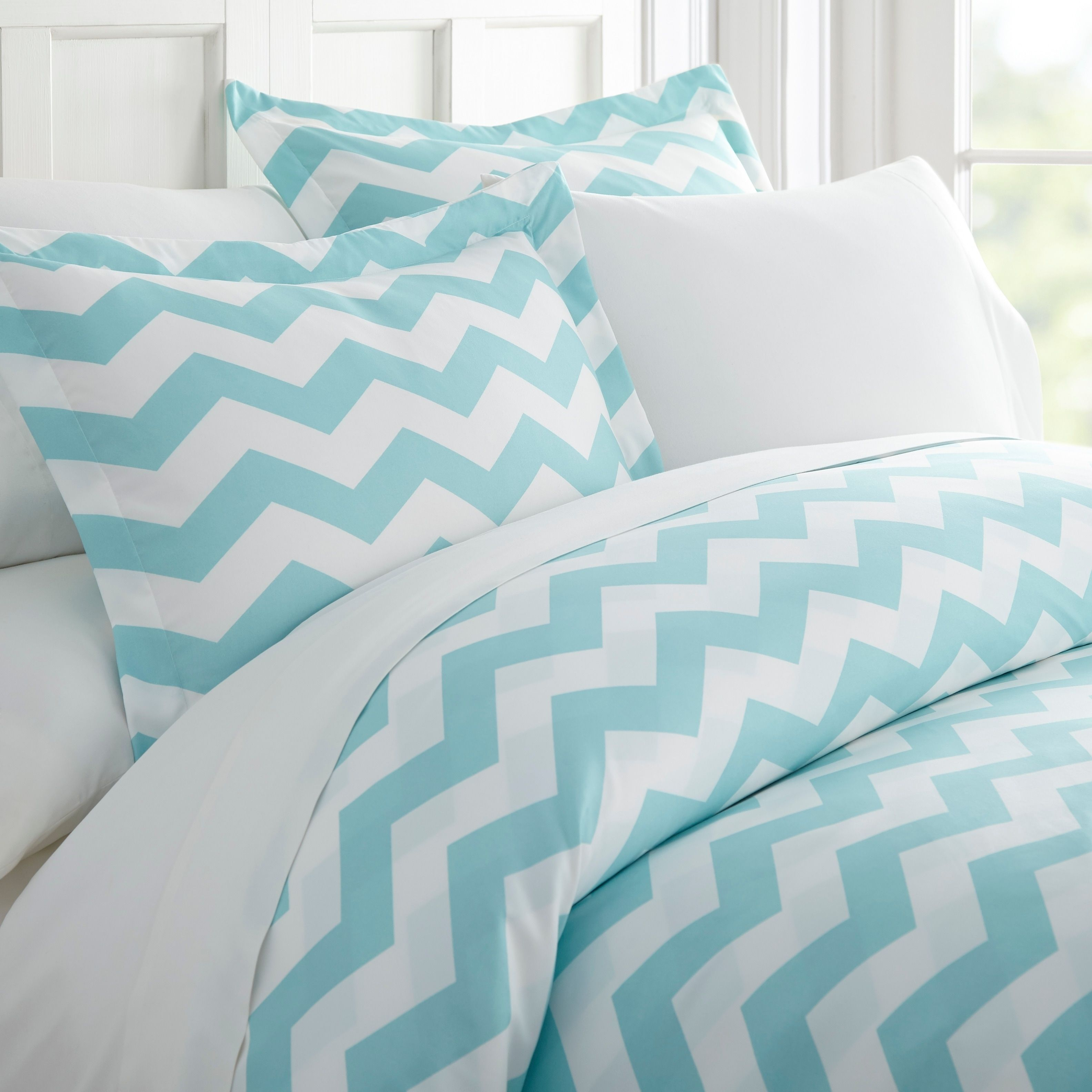 2479a69a88ea5 Becky Cameron Premium Ultra Soft 3 Piece Printed Duvet Cover Set  (Queen/Full - arrow-turquoise), Blue