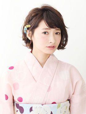 もう悩まない 浴衣に合うショート ボブのヘアアレンジ集 Kimono