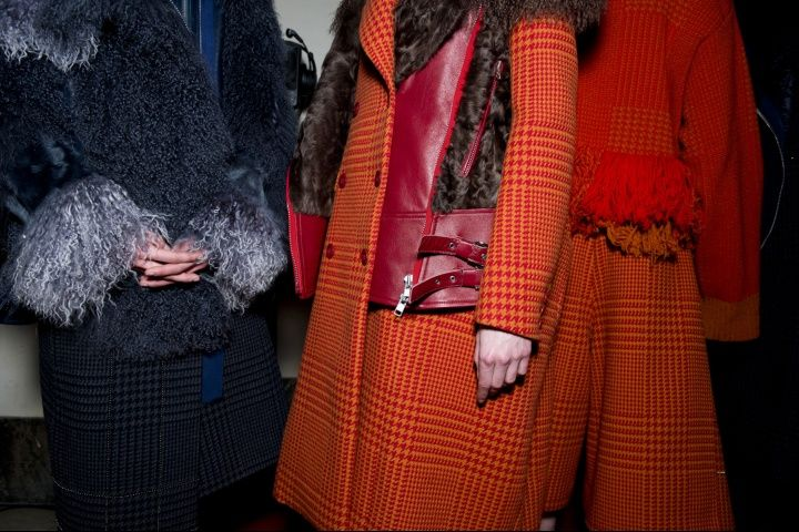 Sacai Fall 2014 - Backstage - Photographed by Jason Lloyd-Evans