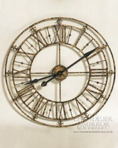 Riccioli Clock Antiqued Gold Metal Wall Clock Relogio De Parede Decoracao Relogios