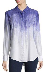 Equipment Silk Ombre Longsleeve Top Blue Multi