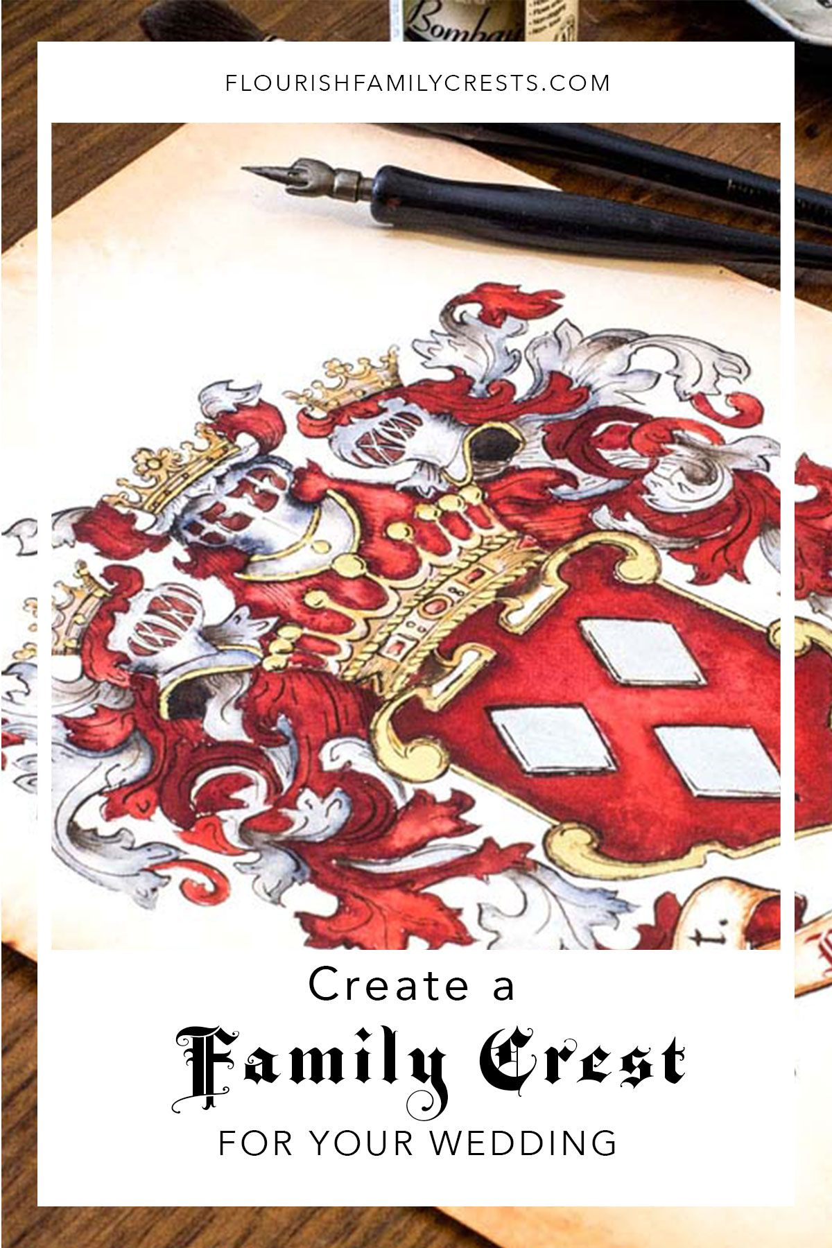 Why You Need a Custom Family Crest for your Wedding | Illustrations