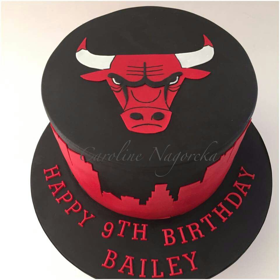 Chicago Bulls Cake With Images Chicago Bulls Cake Mother