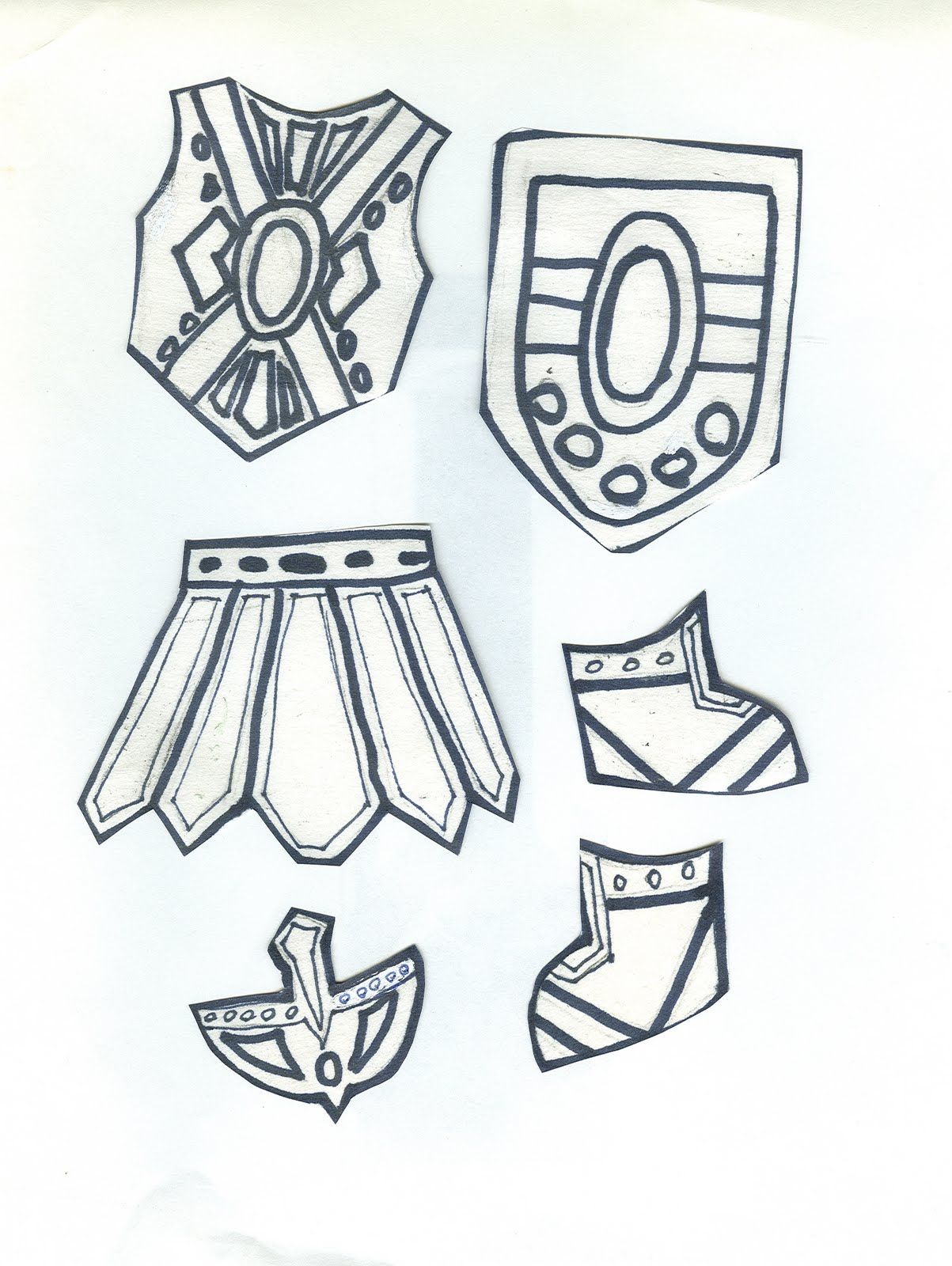 Armor For The Paper Doll Body Totally Doing This While