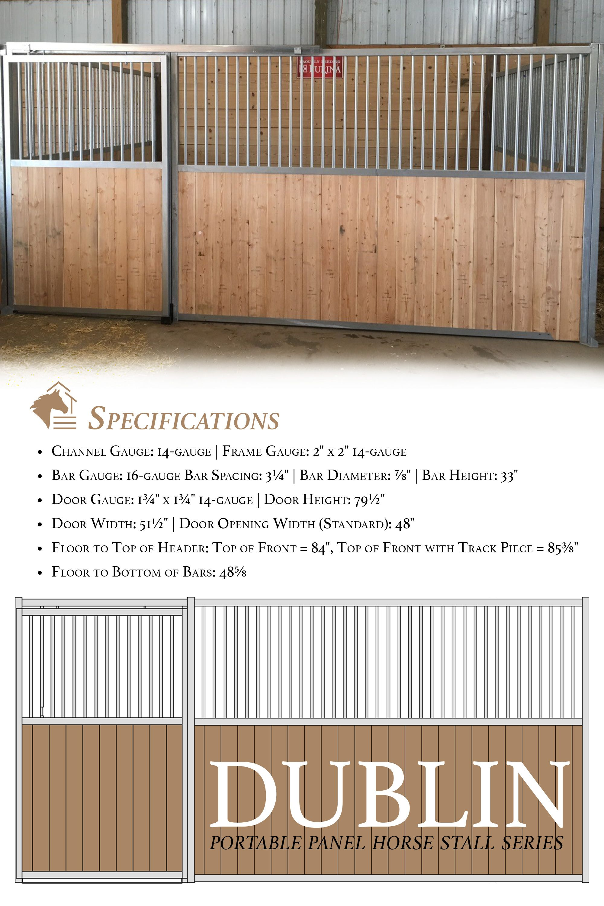 Our Dublin Portable Panel Horse Stalls Offer A Great Portable Or