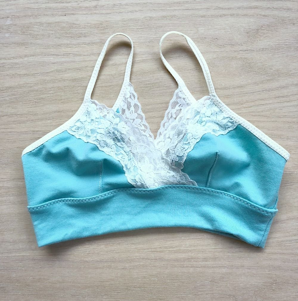 484afc4ad6133  merino  wool bralette in robin egg and cream  lace . Made in Canada
