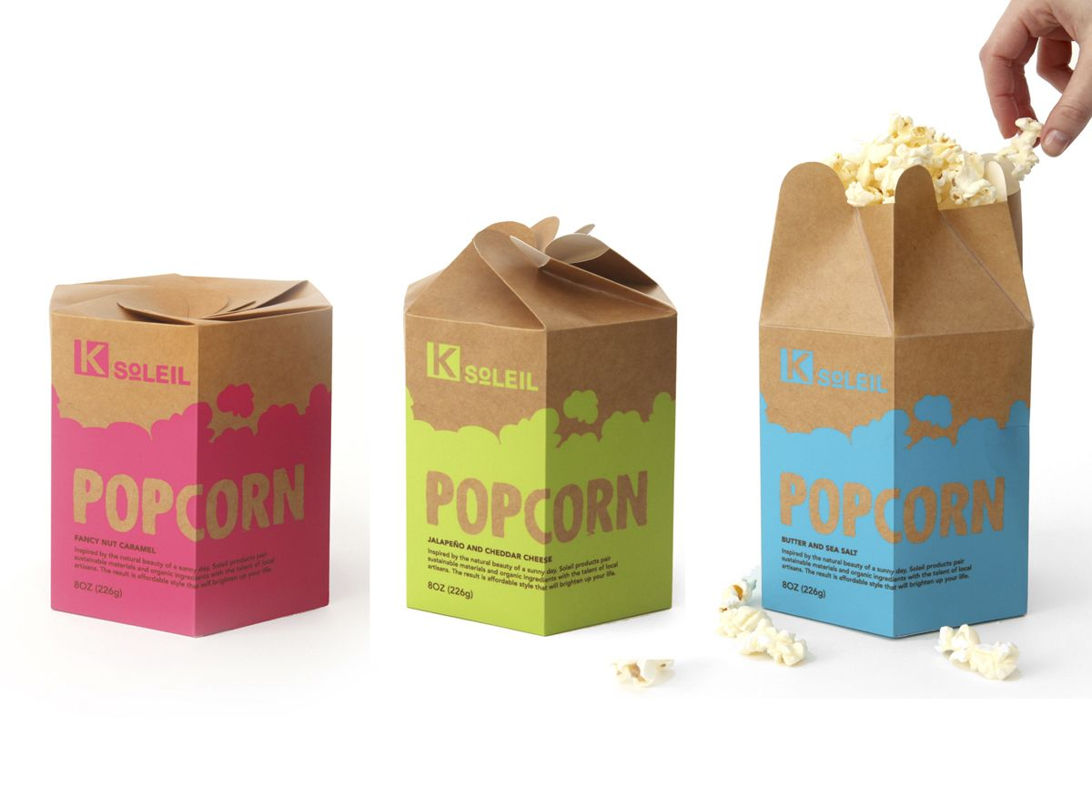 Design packaging packaging specialist packaging - Kmart Soleil Popcorn Packaging Maya Ostrander
