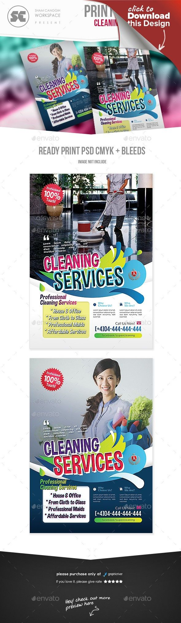 multipurpose cleaning services flyer flyers templates pinterest washing windows flyer template and magazine ads