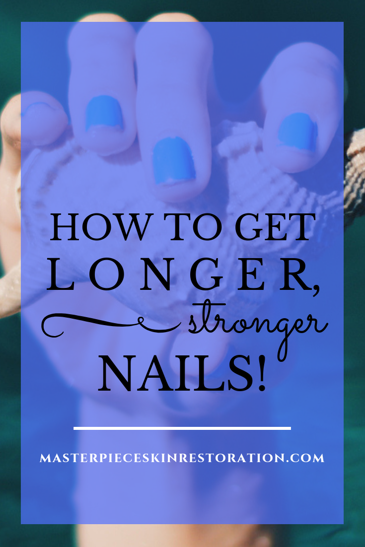 How to Get Longer, Stronger Nails! + Shop Skincare | Nails There are a few things that affect your nail length. Genetics & your age play a role. Those are the things you can't control. We've got 9 things you can! | #MasterpieceSkinRestoration #Skincare #Shop #SkincareProducts #SkincareAddict #medicalskincare #medicalbeauty #nails #nailhealth #longnails #healthynails