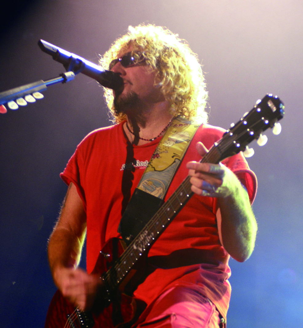 Former Yamaha Artist Sammy Hagar And His Aes Signature Model Cabo Wabo Red Of Course Yamaha Guitar Artists And Models Model