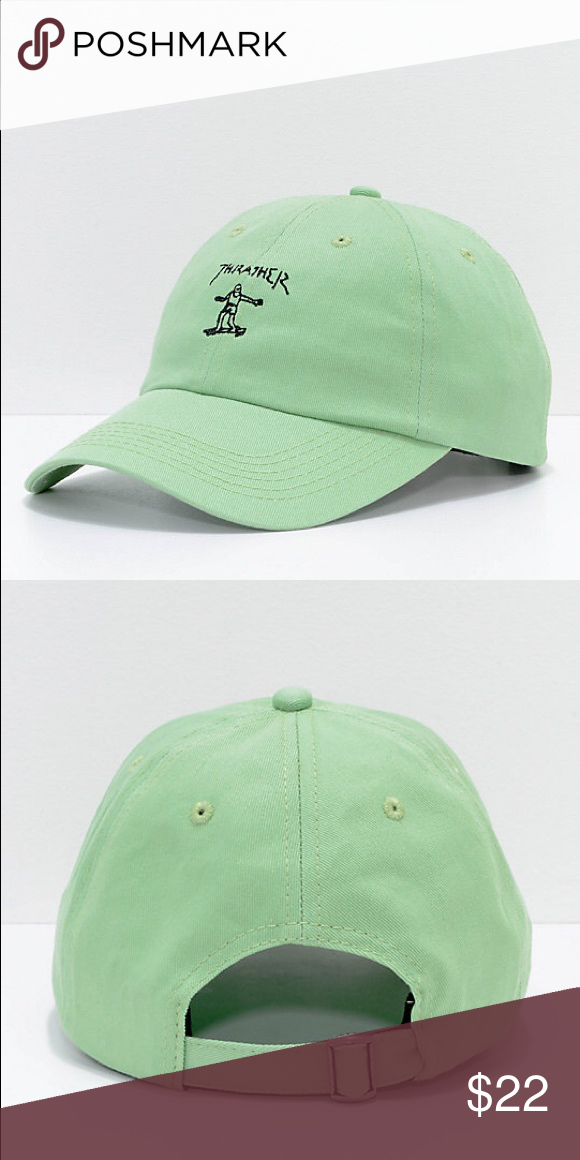 cac51f0a9bad4d Thrasher Gonz Mint Old Timer Hat Mint green men's thrasher baseball cap  with adjustable strap. Embroidered front design, Zumiez tag still attached!