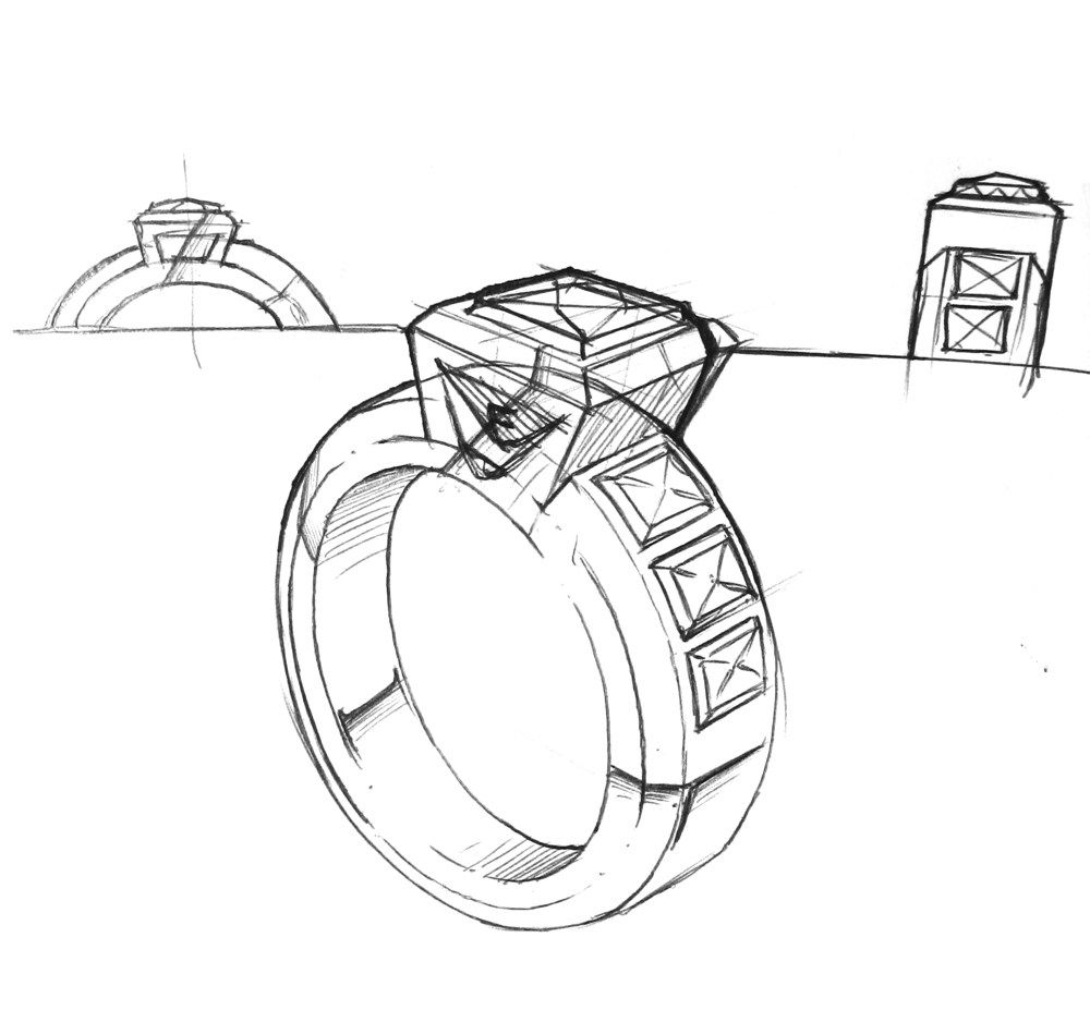 17 Elegant Wedding Ring Sketch Drawing And