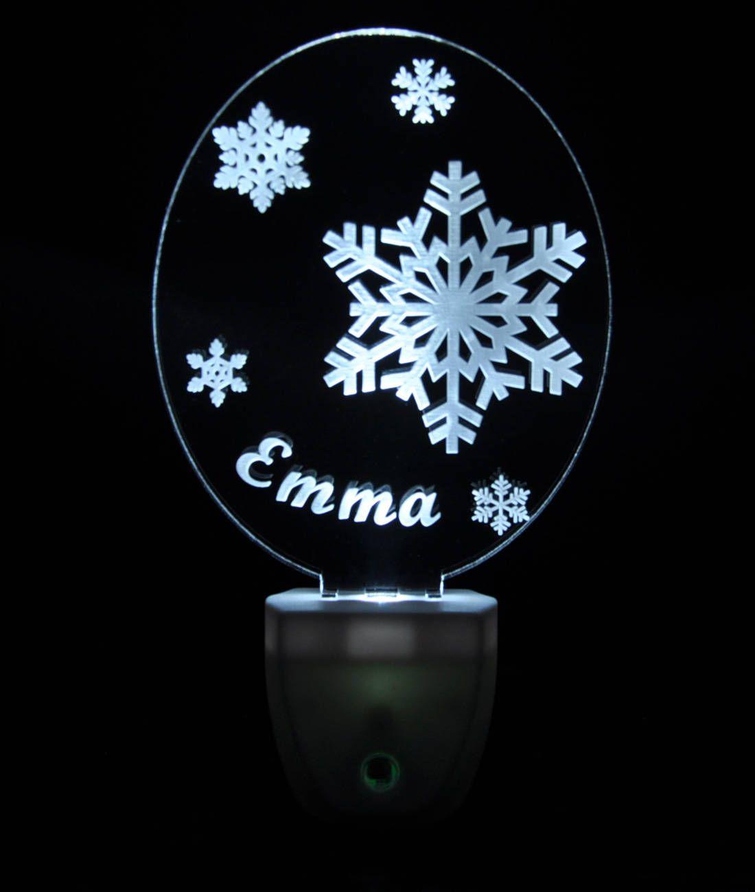 Winter Snowflakes Light Sensor Led Plug In Night Light