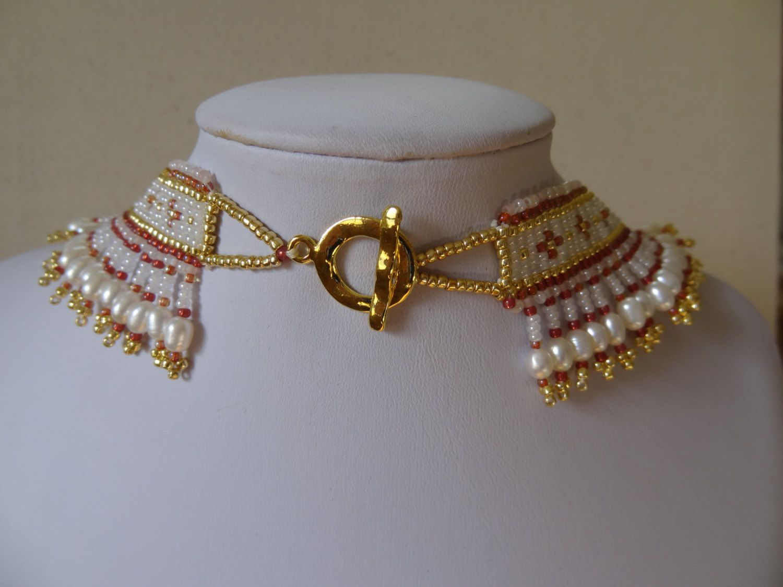 SPRING SALE Baroque Valentine Necklace Ocean Jasper от gayhuntley