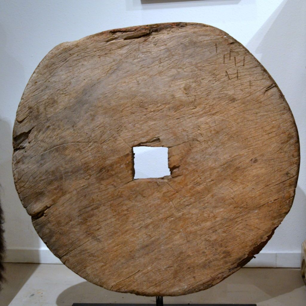 Antique Asian Wood Wheel