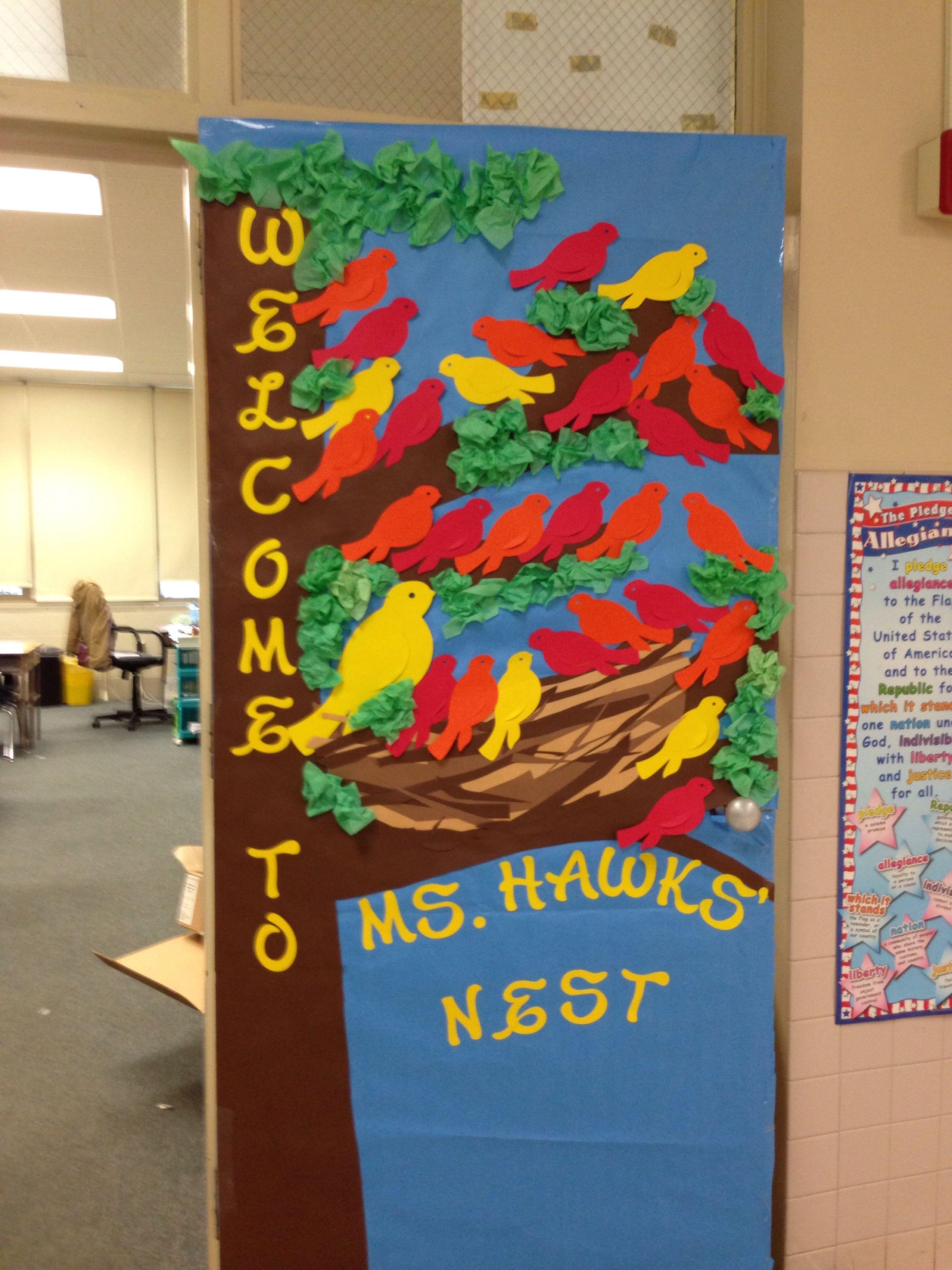 Back to school classroom door decoration