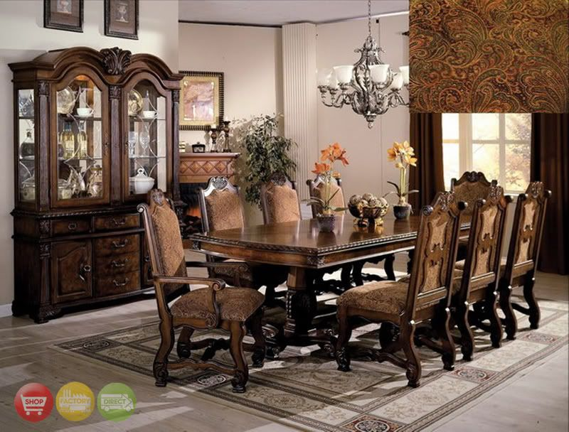 Formal Dining Room Sets With 8 Upholstered Chairs