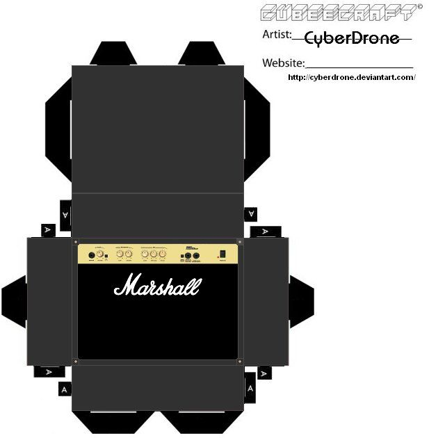 Cubee - Marshall Amp 1 by CyberDronedeviantart on @DeviantArt - free p amp amp l template