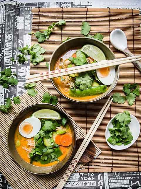Low Carb Vegetable Laksa With Shirataki Noodles
