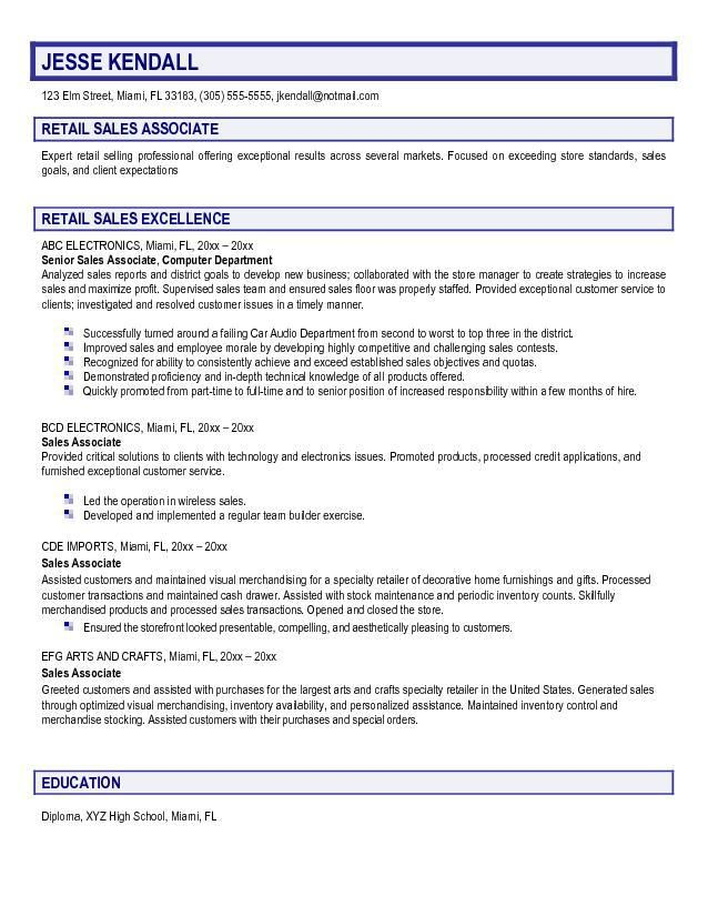 Writing A Good Cv Mccarthy Retail Recruitment Retail Our 1 Top - cover letter sales associate