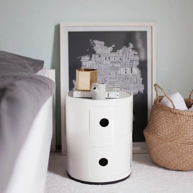 white componibili by anna castelli ferrieri kartell loves colours pinterest anna. Black Bedroom Furniture Sets. Home Design Ideas