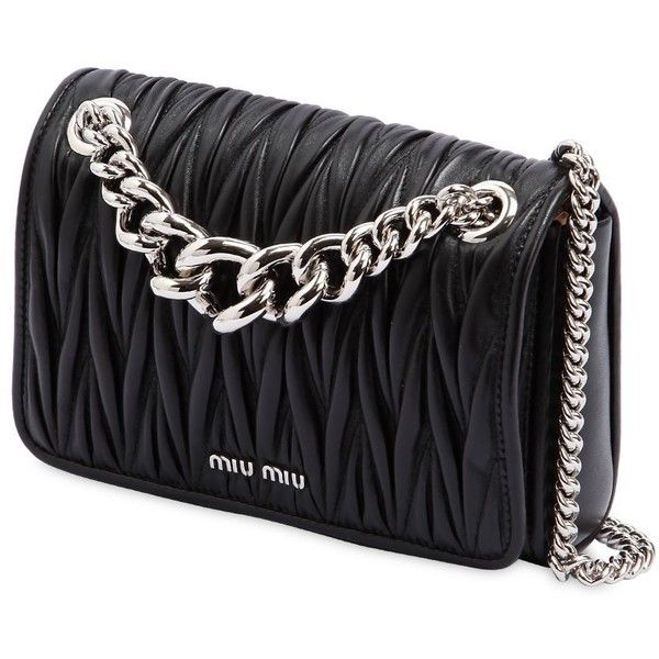 1bf278b81275 Miu Miu Women Club Quilted Leather Shoulder Bag (14 160 SEK) ❤ liked on