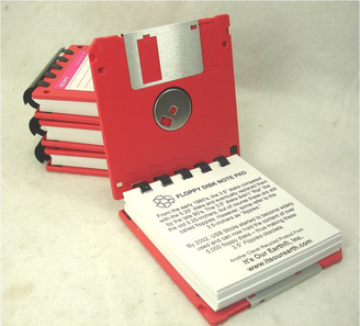 books with floppy disk covers!