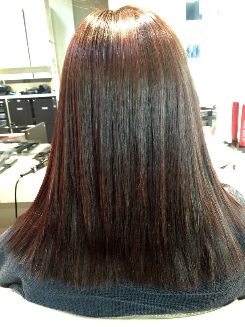Magic straight perm vs keratin - Straight Perm By Christian At Eleven Hair Japanese Permanent Hair Straightening