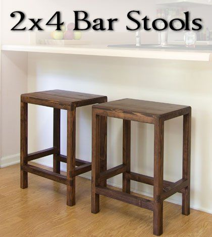 Free DIY Furniture Project Plan: Learn How To Make Half Lap Bar Stools From