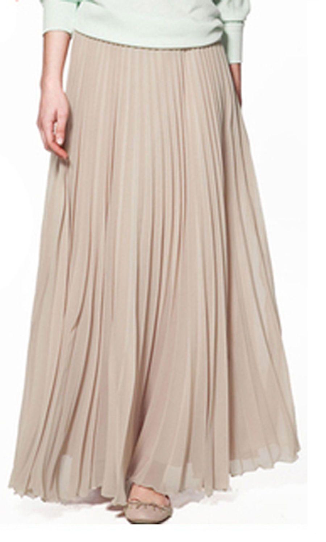 4048714e18 Spring Autumn Women'S Chiffon Pendulum Long Pleated Bohemia Skirt Dress