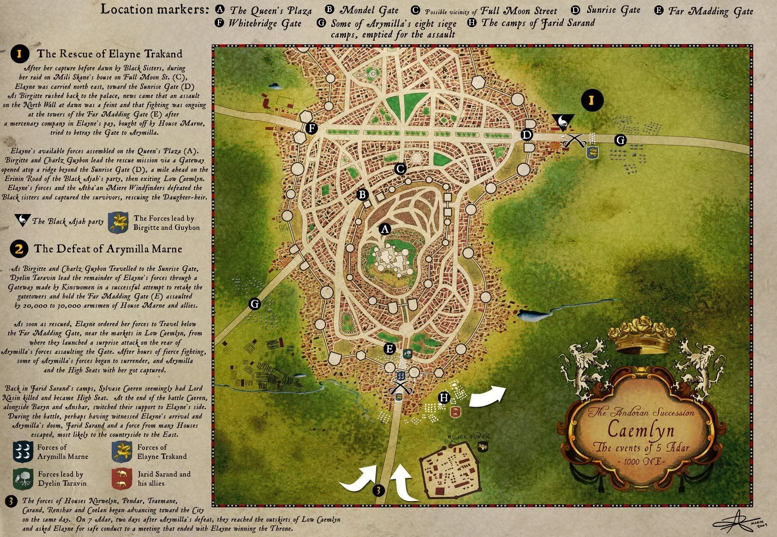 Robert Jordan Wheel of Time map - Caemlyn detail | WoT | Pinterest ...