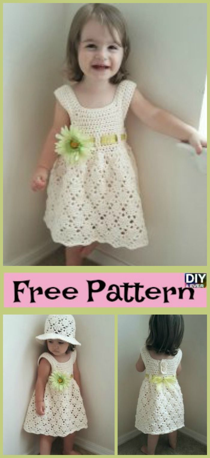 Crochet Vintage Toddler Dress - Free Pattern | Free pattern, Crochet ...