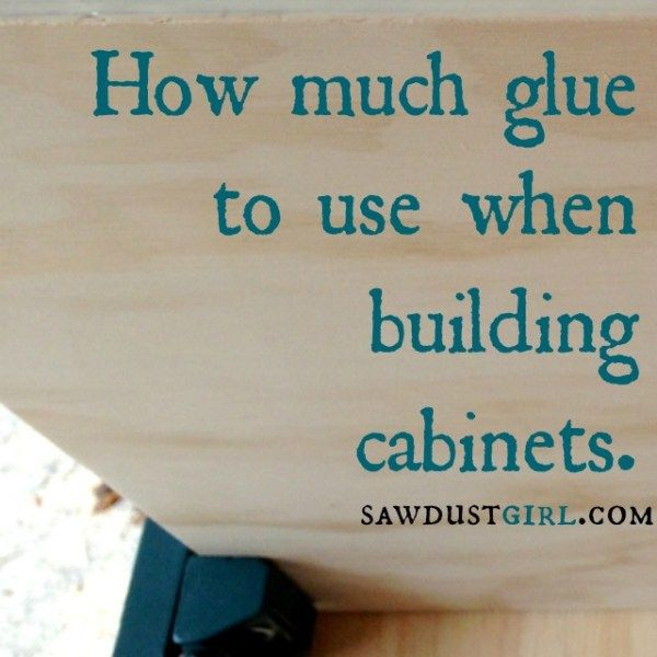 How much glue is enough? Go check it out at Sawdustgirl.com