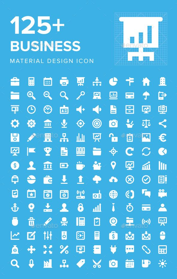 125 Business Material Design Icons Material Design Icon Design