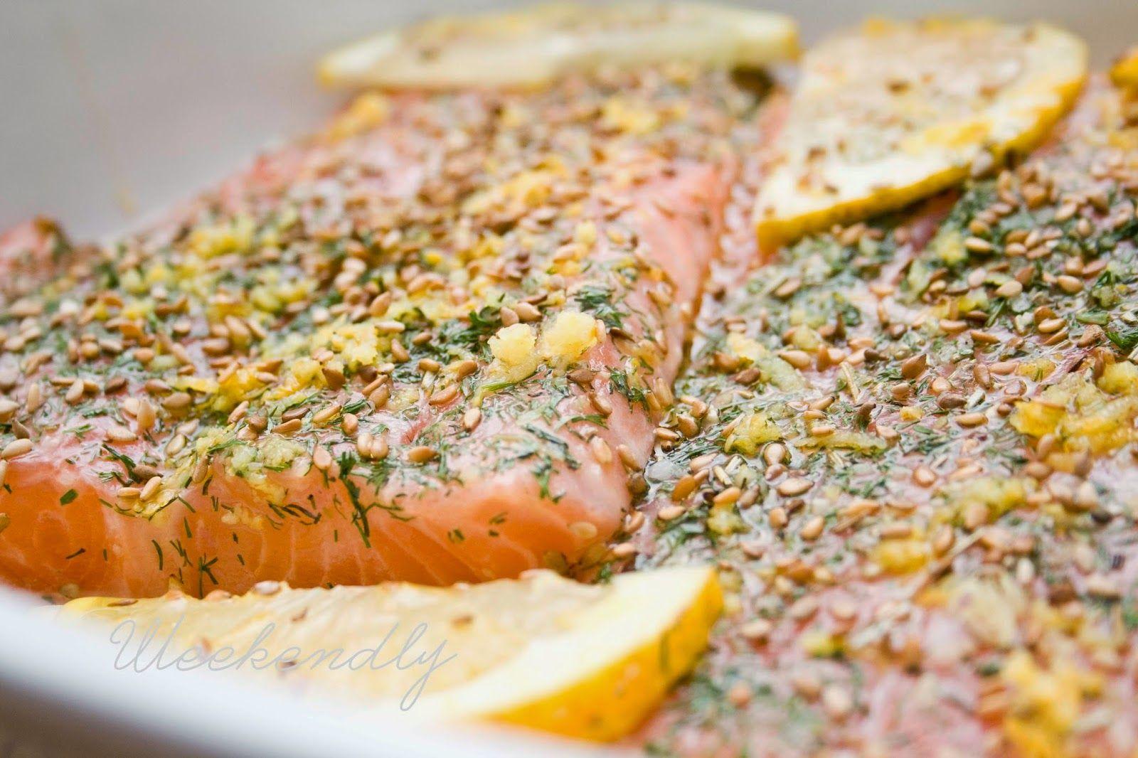 Grilled Salmon with sweet yogurt sauce