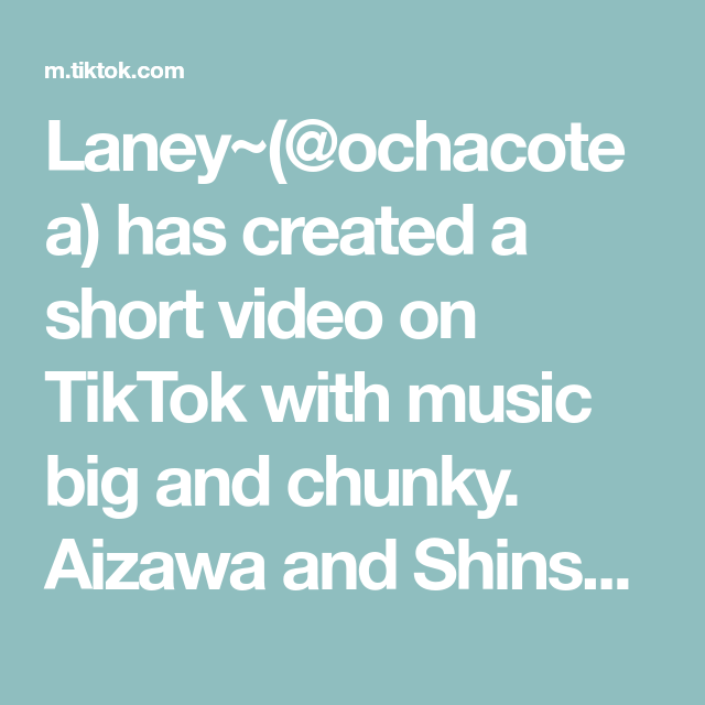 Laney Ochacotea Has Created A Short Video On Tiktok With Music Big And Chunky Aizawa And Shinsou Someone Take Panic At The Disco Music Music Aesthetic