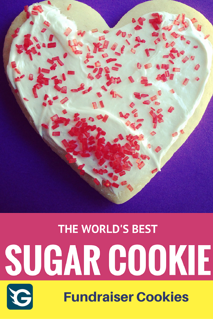 The Best Sugar Cookie Recipe EVER - #fundraisercookie Create your online fundraising campaign at http://gogetfunding.com !