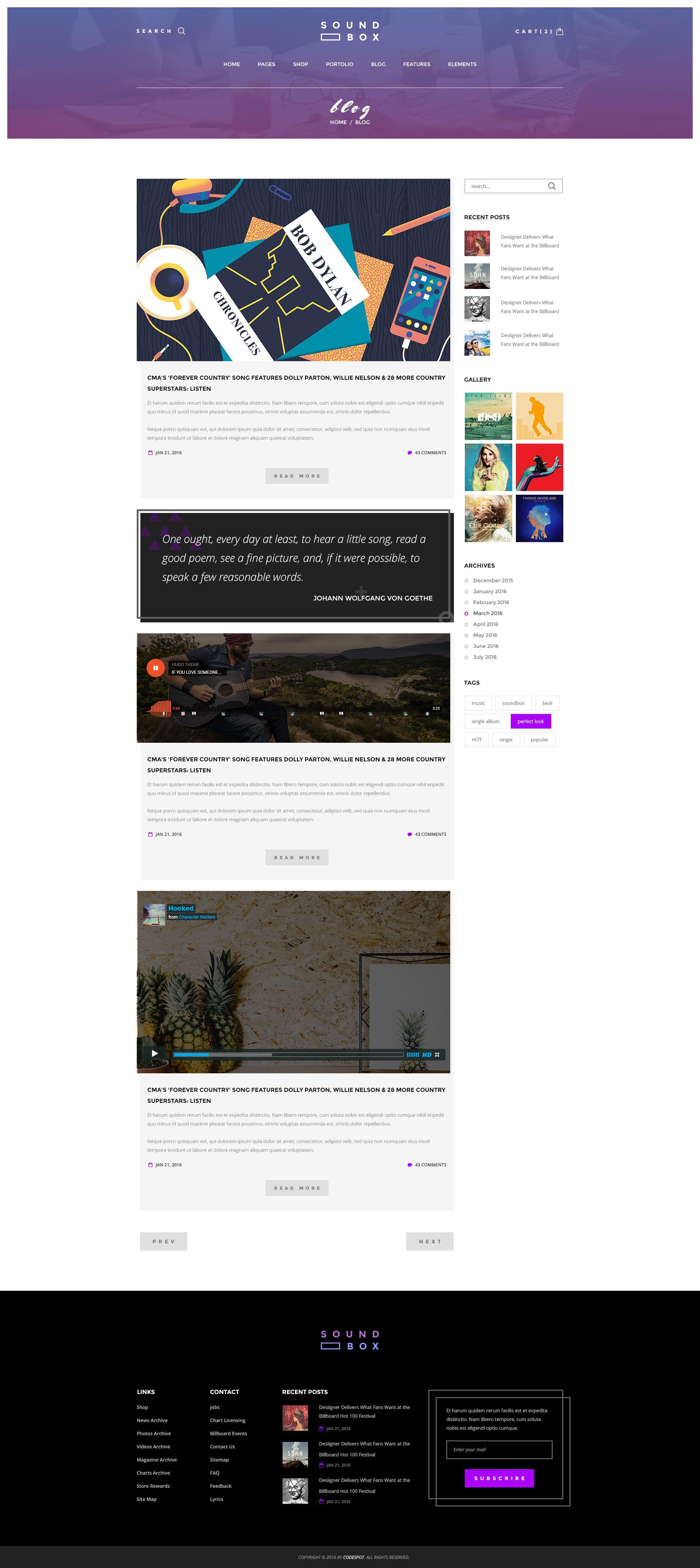 SoundBox Digital Downloads WP Theme Blog Posts Blog