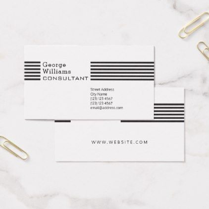 Elegant Stripe Pattern Template Business Card  Pattern Sample