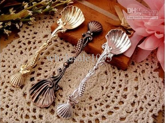 Christmas Gift Coffee Spoon Ice Cream Scoop Seashell/Classical Style Tableware From Wholesale1095, $55.68   Dhgate.Com