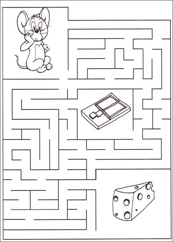 Jeu du labyrinthe imprimer feladatlapok pinterest - Jeux labyrinthe a imprimer ...