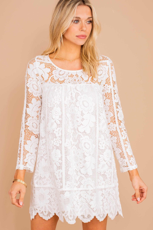 Leave An Impression Ivory White Lace Dress Lace White Dress Off White Lace Dress Lace Overlay Dress [ 3000 x 2000 Pixel ]