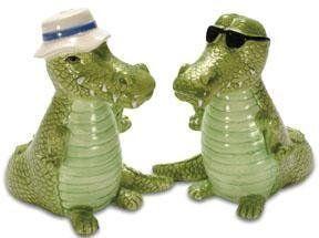 294 Alligator Salt and Pepper Shakers