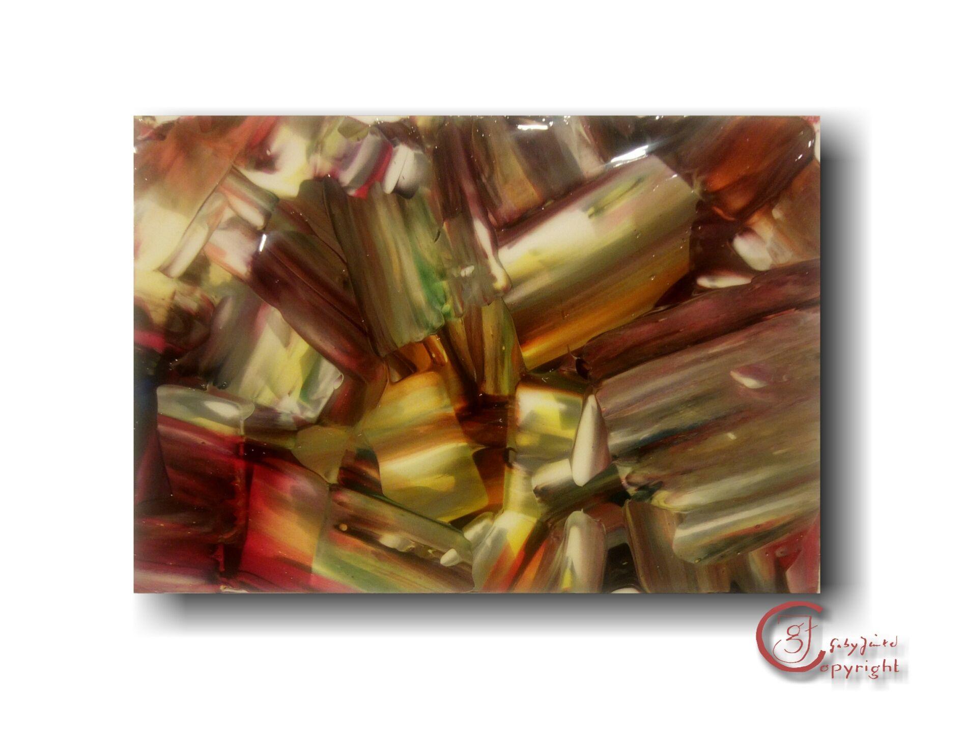 Kristalle  Acryl auf Lanavanguard-papier   13×9cm  2017-01-21 im Stil von John Robert Jurisich