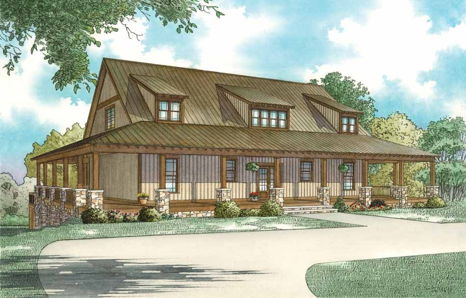 1385 Summer Place Ii Nelson Design Group Country Style House