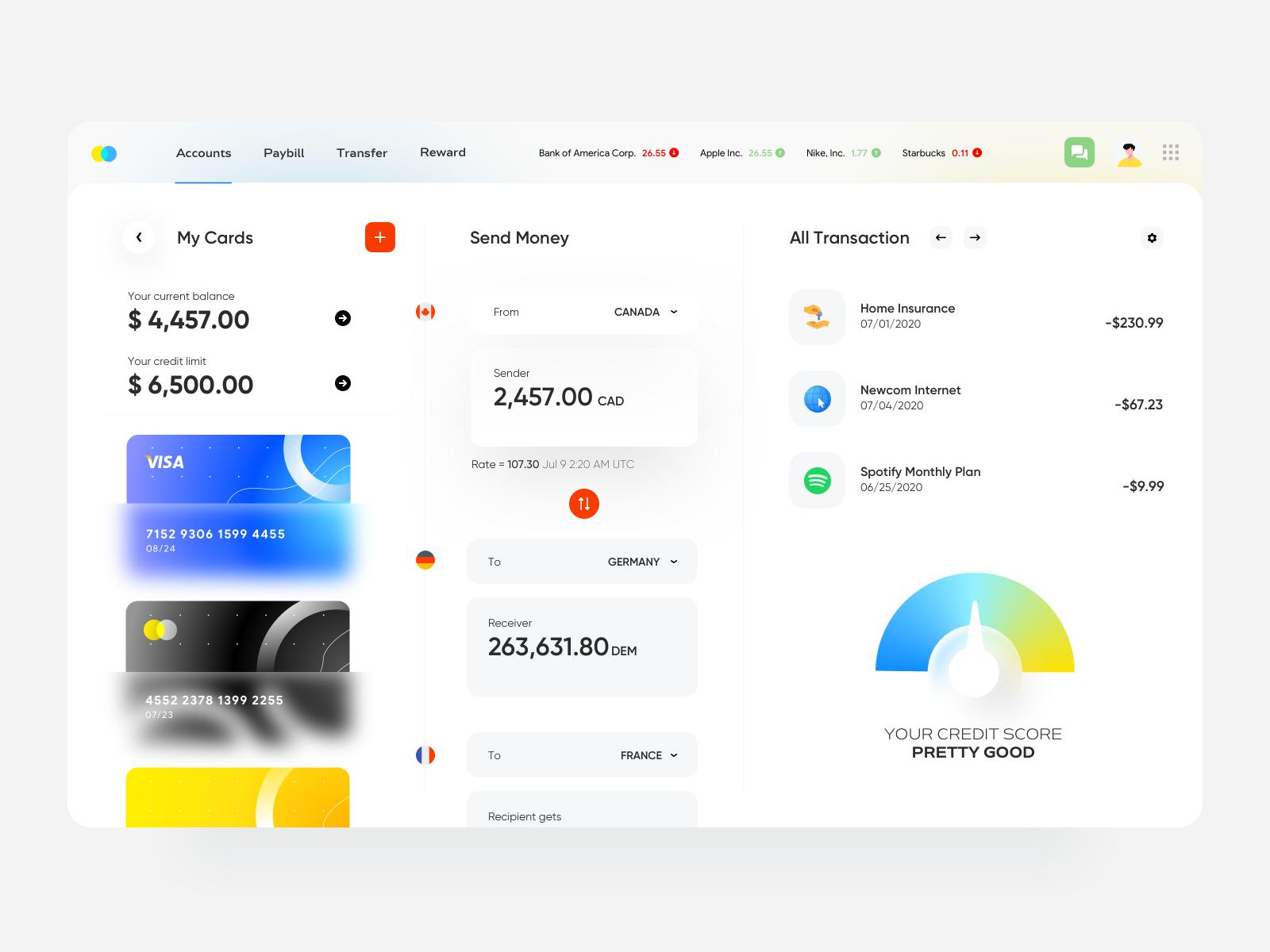 Online Banking Web App In 2020 Web App Dashboard Design Web App Design