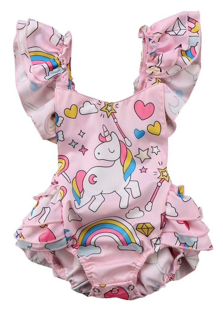 508af78a56ede Unicorn One Piece Romper | Cute Rompers | Rompers, Baby girl romper ...