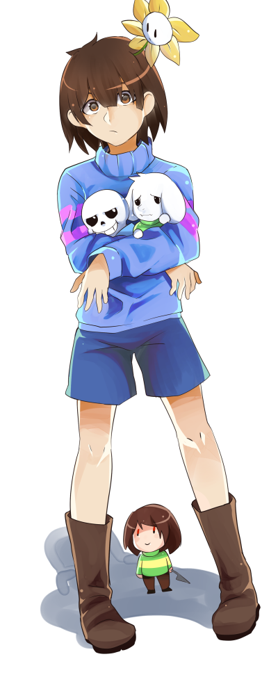 Chara And Asriel Frisk Sans And Undertale